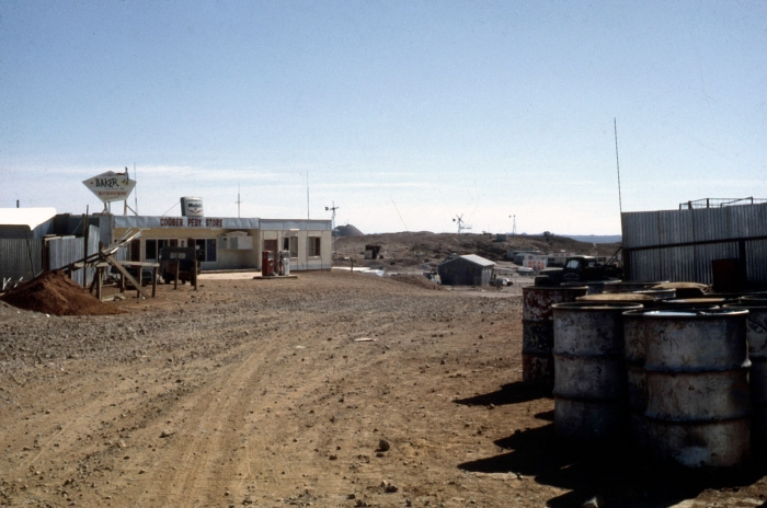the main street of Coober Pedy 1967